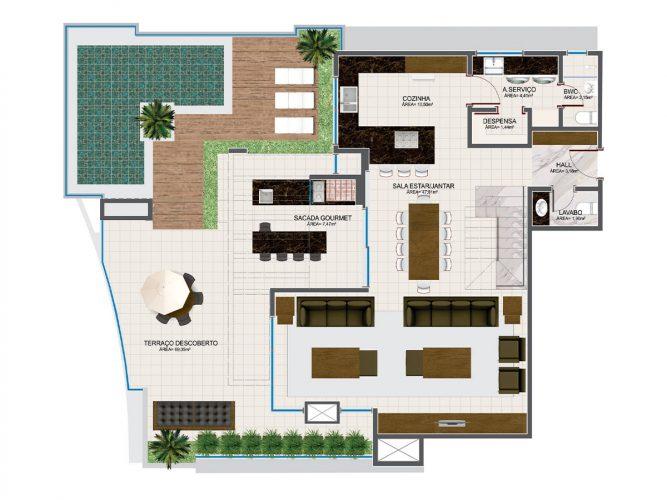 Cobertura Duplex (piso inferior) - 12⁰ pavimento