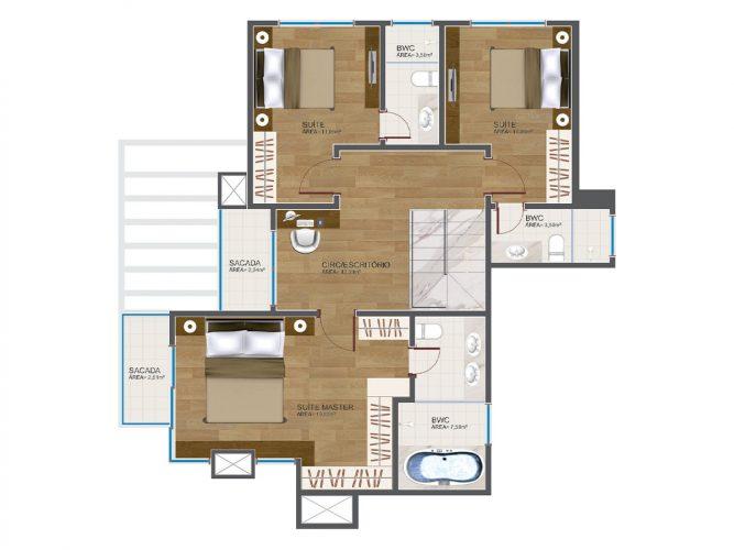 Cobertura Duplex (piso superior) - 12⁰ pavimento
