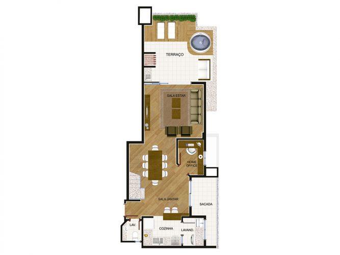 Cobertura Duplex (piso inferior) - 8⁰ pavimento