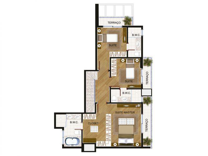 Cobertura Duplex (piso superior) - 8⁰ pavimento