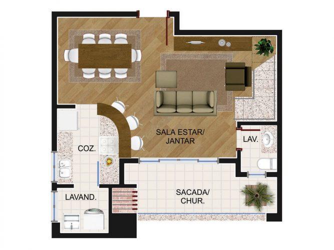 Cobertura Duplex 2 (piso inferior)