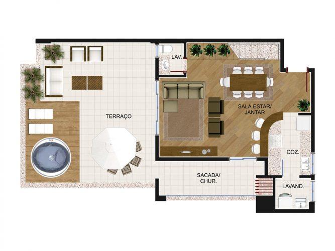Cobertura Duplex 3 (piso inferior)