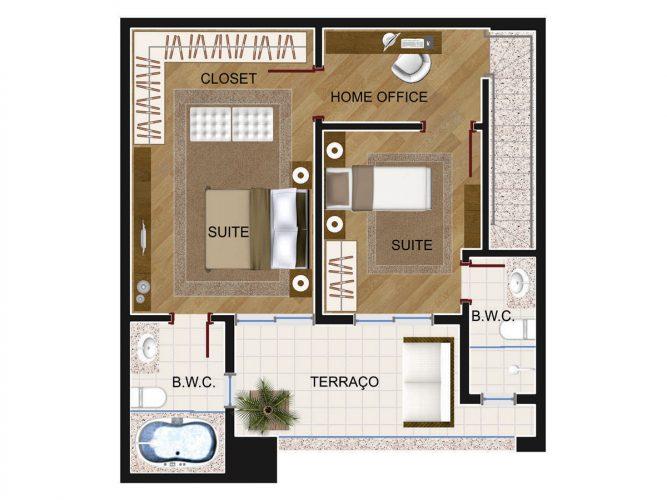Cobertura Duplex 2 (piso superior)