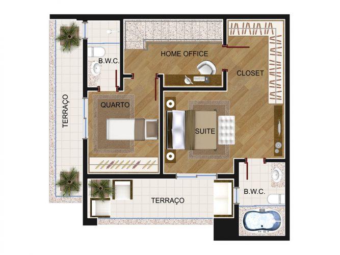 Cobertura Duplex 3 (piso superior)